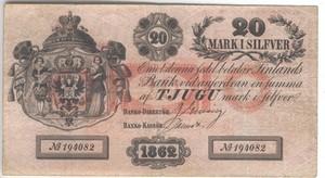 20 марок 1862 года русская Финляндия