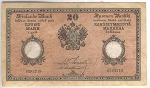 20 марок 1894 года выпуска русская Финляндия