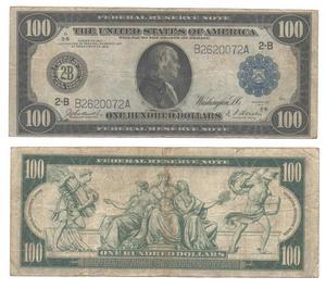 100 долларов 1914 года