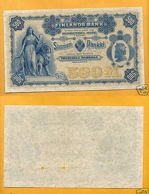 500 марок 1898  Русская Финляндия Образец