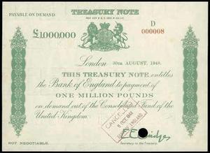 1000000 фунтов стрелингов 1948, Банк Англии