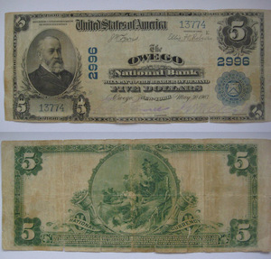 National currency 5 долларов 1902