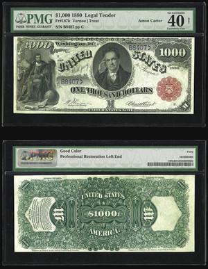 Legal Tender 1000 долларов 1880, САСШ