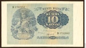 10 крон 1940, Эстония