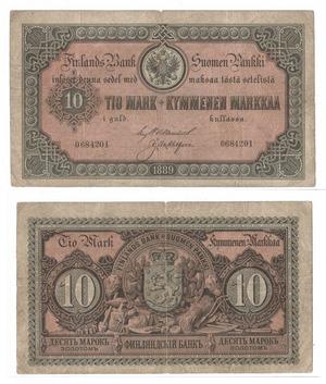 Билет 10 марок 1889, Финляндия