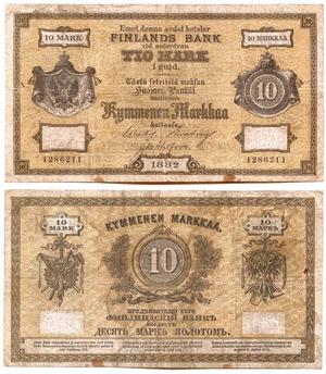 Билет 10 марок 1882, Русская Финляндия