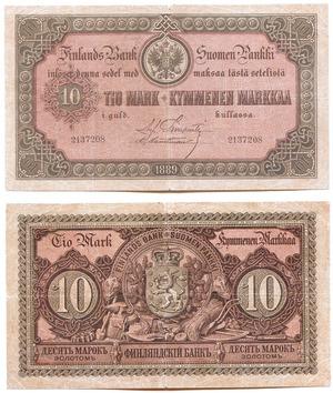 Билет 10 марок 1889, Русская Финляндия