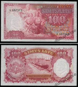 Билет 100 лат 1939, Латвия