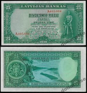 Билет 25 лат 1938, Латвия
