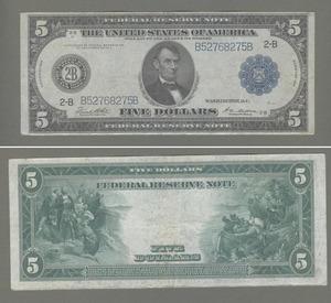 Note 5 долларов 1914, США
