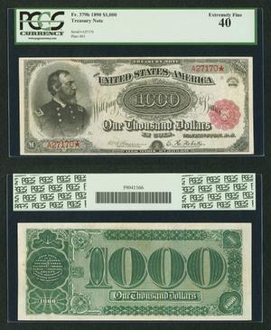 Treasury Note $1000 1890 США