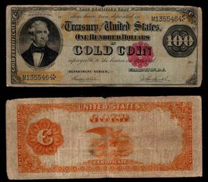 100 долларов 1882 США